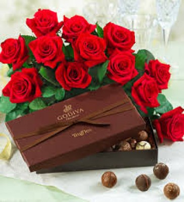 Flowers Gifts To Barcelona,Godiva And Roses Deliveryl  15