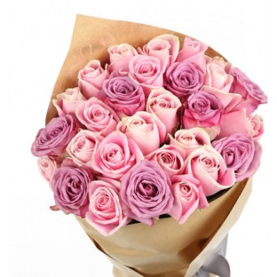 20 Stems Of Lavender And Pink Roses